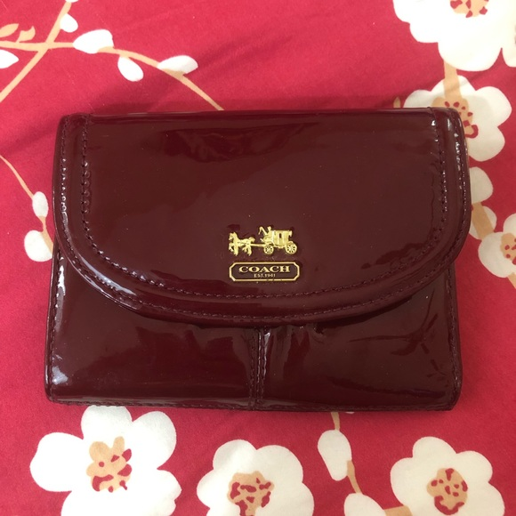 Coach Handbags - Coach Red Patent Leather Wallet